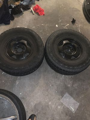 2 5x5 wheels with tire for Sale in Berkeley, CA