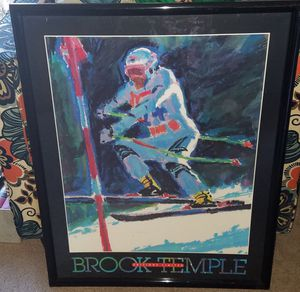 Brook Temple Editions Limited Skiing Framed Art for Sale in Damascus, MD