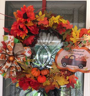 """Fall Grapevine Wreath 22"""" w. By 19""""h. New for Sale in Stockton, CA"""