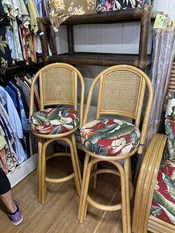 Vintage bamboo bar stools. for Sale in Encinitas,  CA