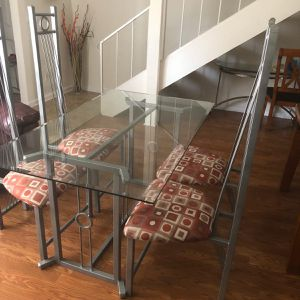 Glass Dining Table & 6 Chairs for Sale in San Diego, CA