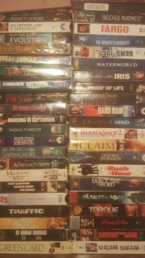 Disney movies 100 each , Vintage vhs tapes, still in good condition..kept in closet for years , getting rid of all make offer willing to trade for Sale in Pasadena, TX