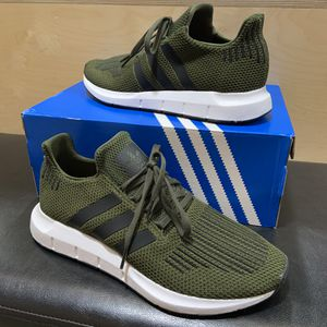 Adidas Swift Run Shoe Cargo Green/Black Brand New Sizes 9, 9.5, 10, or 10.5 for Sale in Brea, CA