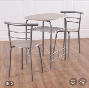 3 pcs home kitchen Bistro pub Dining table 2 chairs set for Sale in Hesperia, CA