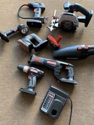 Craftsman cordless set - drill saws sander vacuum and more for Sale in Casselberry, FL