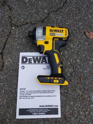 New dewalt 20v MAX Brushless impact driver [tool only] for Sale in Ashburn, VA
