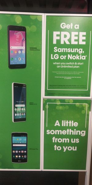 Free phones with unlimited plans for Sale in Houston, TX