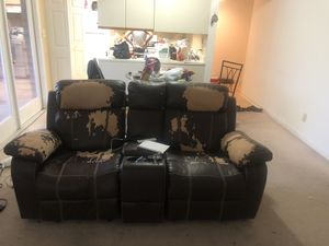 Free love seat recliner with futon included for Sale in Raleigh, NC