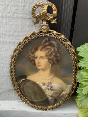 Antique Painted Portrait for Sale in Portland, OR
