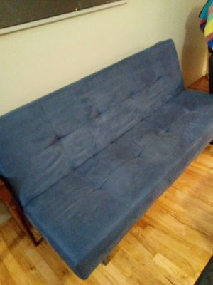 Blue futon newer for Sale in Portland, OR