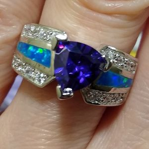 Simply Gorgeous NEW Sterling Silver Amethyst Fire Opal Ring! 🔥 💍 for Sale in Vancouver, WA