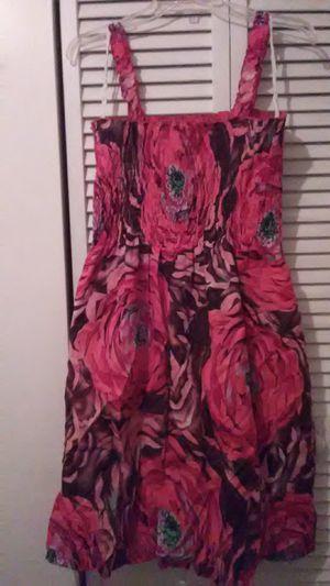 Floral Pink Dress By: Karin Stevens for Sale in HALNDLE BCH, FL