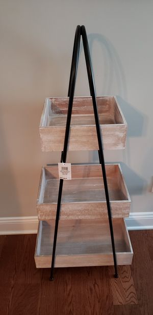 New. 3 tier wood shelves for Sale in Forest, VA