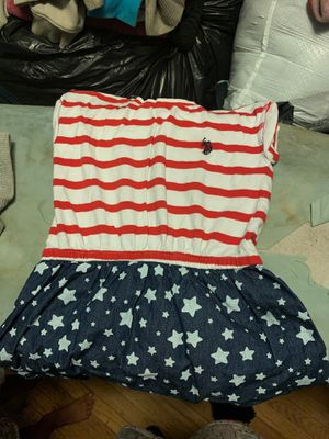 Us polo assn red white blue dress size 6 for Sale in Philadelphia, PA