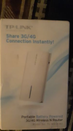Tp link portable wireless n router model no. To mr3040 for Sale in Wagener, SC