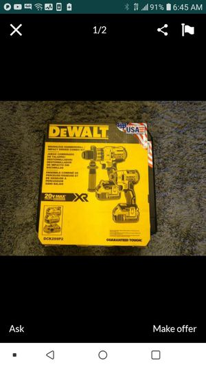 DEWALT DCK299P2 XR BRUSHLESS 20V 3SPEED 2 TOOL COMBO KIT NEW NUEVO WITH XR5.0 BATTERIES AND CHARGER🙏✌🏃👊👊👊😵 for Sale in Torrance, CA