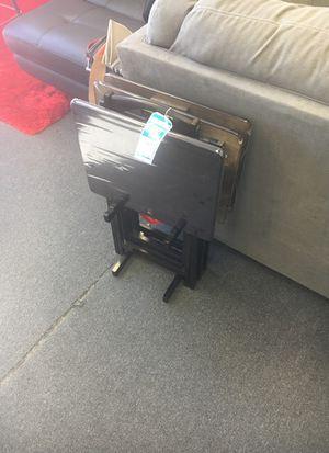 Brown wood TV trays for Sale in Alexandria, VA