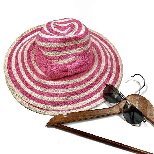 Kate Spade Women's pink striped floppy sun hat