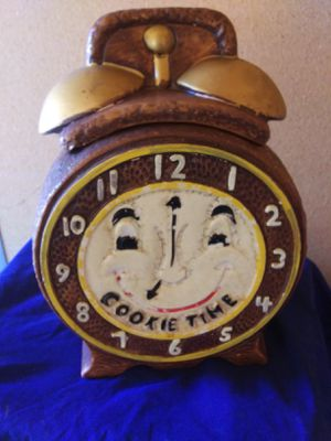 ANTIQUE CALIFORNIA COOKIE TIME ALARM CLOCK COOKIE JAR #860 for Sale in Antioch, CA