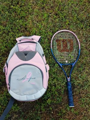WILSON HOPE BREAST CANCER SPECIAL TENNIS BAG & RACKET for Sale in NEW PRT RCHY, FL