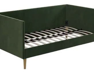 Green Velvet Day Bed + Twin Mattress for Sale in Washington,  DC