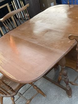 Nichols & Stone Solid Maple Table With Chairs for Sale in Norwalk,  CA