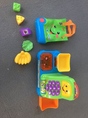 Fisher price grocery register and bag with pieces infant baby toy for Sale in Grove City, OH