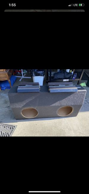Dual Subwoofer Box 12 inch speakers for Sale in Moreno Valley, CA