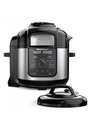 Ninja FD401 Foodi 8-qt. 9-in-1 Deluxe XL stainless steel pressure cooker, 8... for Sale in Bloomington, CA