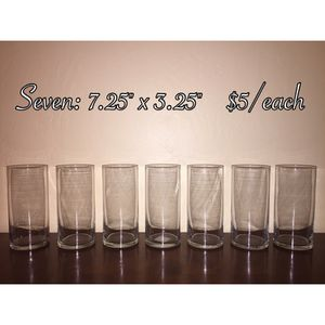 Glass cylinder vases- used for wedding for Sale in Lemon Grove, CA