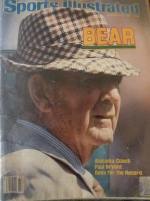 "Paul ""bear"" Bryant 1983 sports illustrated tha last sports illustrated he was in as coach for Sale in Valley Grande, AL"