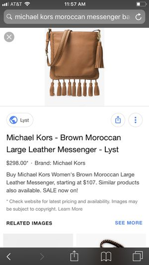 Michael Kors Large Moroccan Leather Messenger Bag in for Sale in Escondido, CA