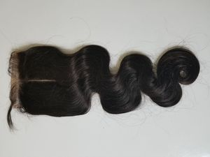18 Brazilian human hair lace closure bodywave middle part for Sale in Lanham, MD