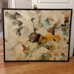 "Large abstract canvas painting 39""x48"" for Sale in Cleveland, OH"