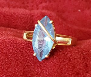 10k blue sapphire ring Size 7.5 grams 2.8 for Sale in MONTGOMRY VLG, MD