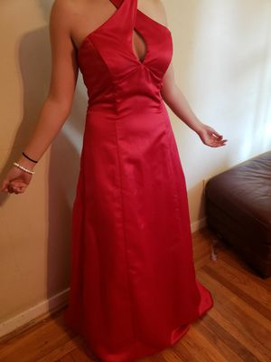 Neck crossed red prom dress for Sale in Antioch, CA