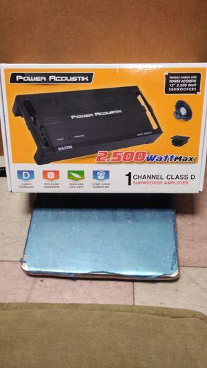 Power acoustik 2,500 w Max 1 channel class D subwoofer amplifier for Sale in Philadelphia, PA