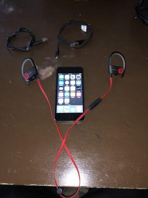 Package deal ipod5th gen+ powerbeats wireless headphones for Sale in Merced, CA