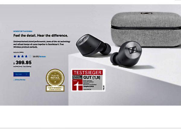 Sennheiser Momentum True Wireless Bluetooth Earbuds In-Ear