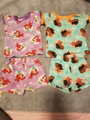 Disney the little Mermaid and Moana pajama sets for Sale in Compton, CA