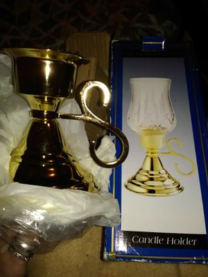 Brass candle holder brand new in the box for Sale in Obetz, OH