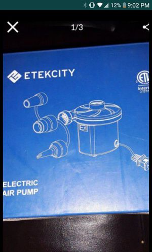 Etekcity electric air pump for Sale in Palmdale, CA