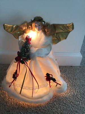 Light up angel tree topper for Sale in Alexandria, VA