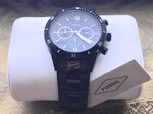 Black Fossil Men Watch - It's Brand New for Sale in Aurora, IL