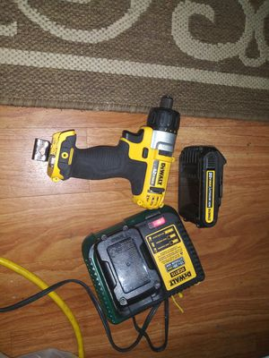 12 volt mac Dewalt with battery and dual battery charger plus a 20 volt battery for Sale in Tumwater, WA
