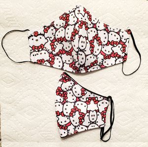 HELLO KITTY WHITE/RED FACE MASK FOR KIDS (2YRS-7YRS) for Sale in Norwalk, CA