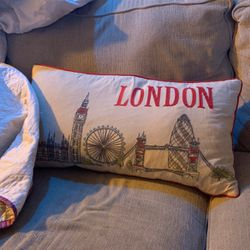London pillow for couch bought in London England !!! for Sale in Austin,  TX