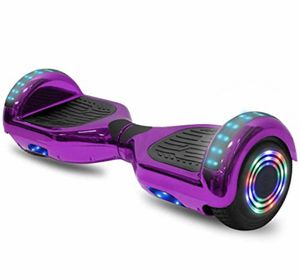 NEW PURPLE CHROME BLUETOOTH HOVERBOARD LEDS MUSIC LIGHTS + CASE & CHARGER for Sale in Ypsilanti, MI