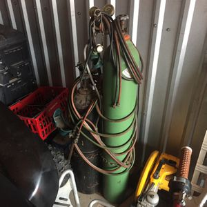 Torch Set With Roll Cart for Sale in Oklahoma City, OK