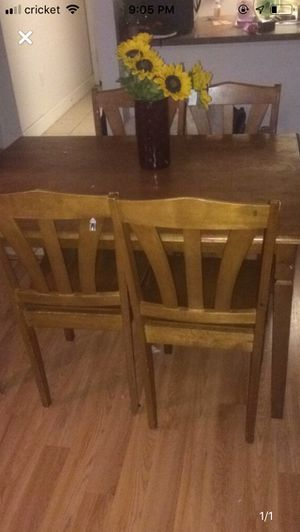 Wooden table with 4 chairs set for Sale in Palm Bay, FL